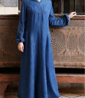 بالصور جينز عبايات , روعة لكل السيدات , اجمل الموديلات التى تتميز بالبساطه 69 13 286x330
