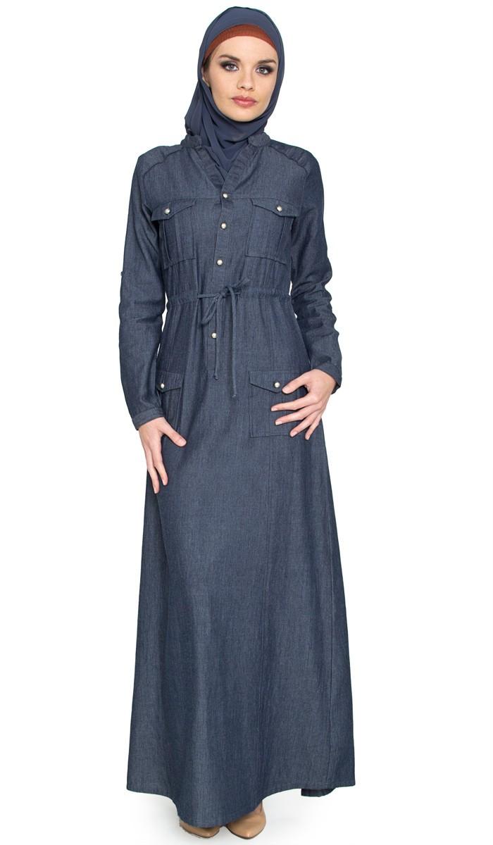 بالصور جينز عبايات , روعة لكل السيدات , اجمل الموديلات التى تتميز بالبساطه 69 2