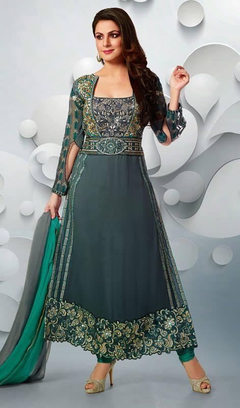 بالصور ازياء هندية للمحجبات , ملابس هندية جميلة , تطريز فخم جداا وجميل 83 6