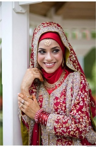 صورة فساتين محجبات هندية , ازياء رائعة مطرزة