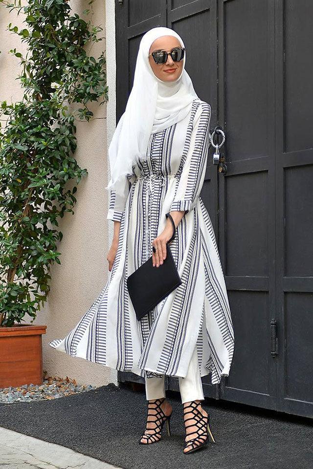 1a52dea009ef6 ملابس خروج للمحجبات مودرن 2019