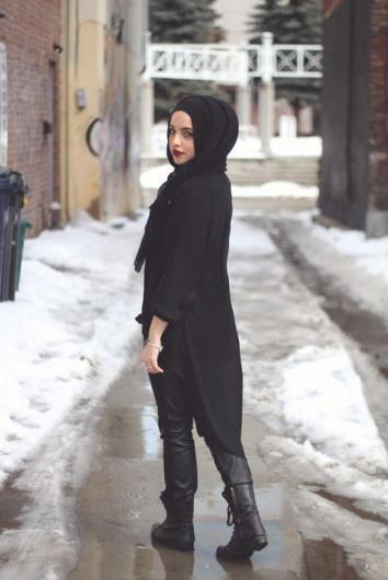 بالصور ملابس خروج للمحجبات مودرن 2019 , استيلات رائعه وكلها اناقة 29 3